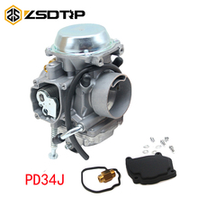 ZSDTRP PD34J Carburetor For Polaris Sportsman 700 4x4 MV7 HAWKEYE 300 400 SCRAMBLER 400 500 BIG BOSS 500 ATV QUAD CARB