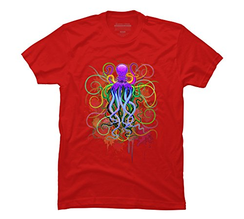 Print T Shirt Short Short Sleeve Print Octopus Psychedelic Luminescence Men's  Graphic T Shirt Design By Humans Crew Neck-in T-Shirts from Men's Clothing  ...