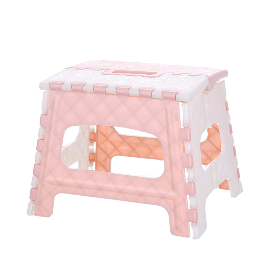 Plastic Multi Purpose Folding Step Stool Home Space Saving Outdoor Storage Foldable Seat Strong Load Bearing 4.516-1