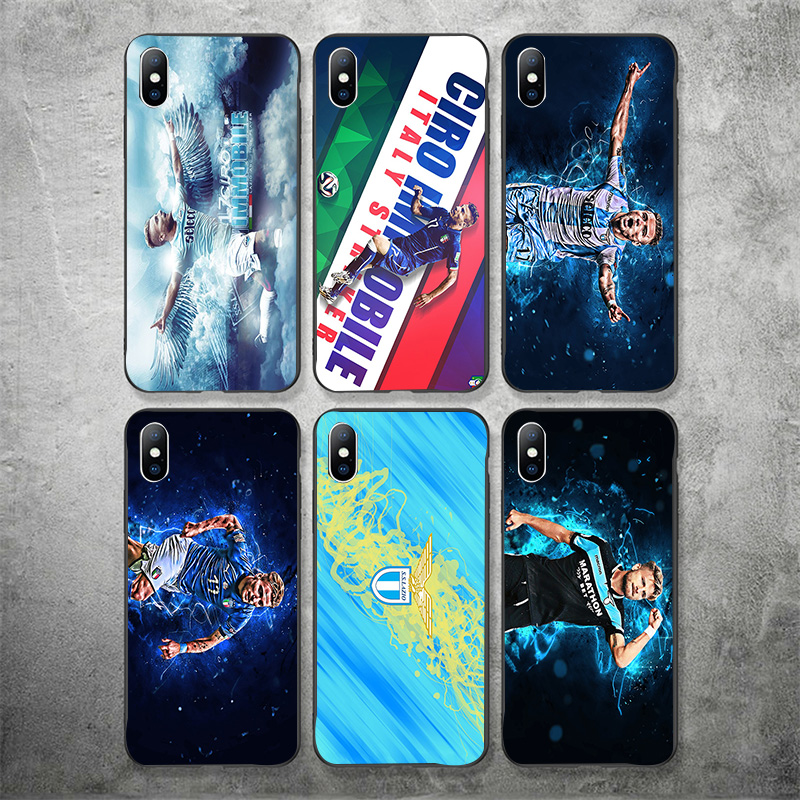 Yinuoda Phone Case Lazio FC Shell For Ciro Immobile iphone DIY Picture Black Soft TPU For iPhone X XR XS MAX 7 8 7plus 6 6S 5S 5 in Half wrapped Cases from Cellphones Telecommunications