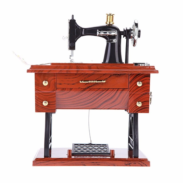 Aliexpress Buy Sewing Machine Music Box Musical Vintage Look Simple Sewing Machine For Sale