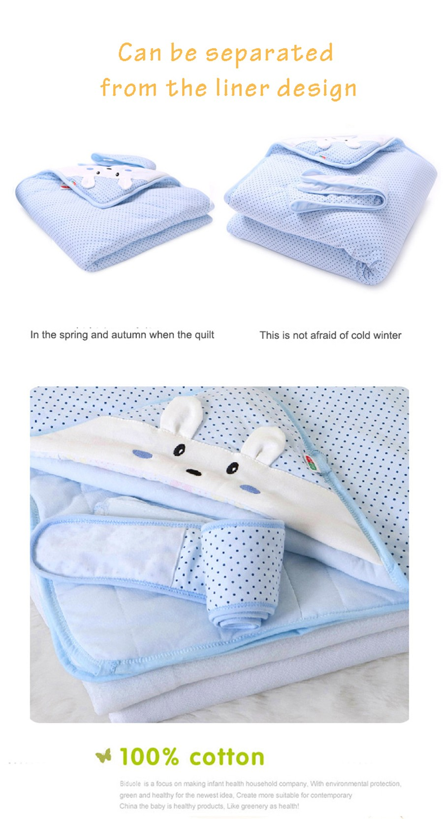 Baby Wrapped Blanket Warm Care (13)