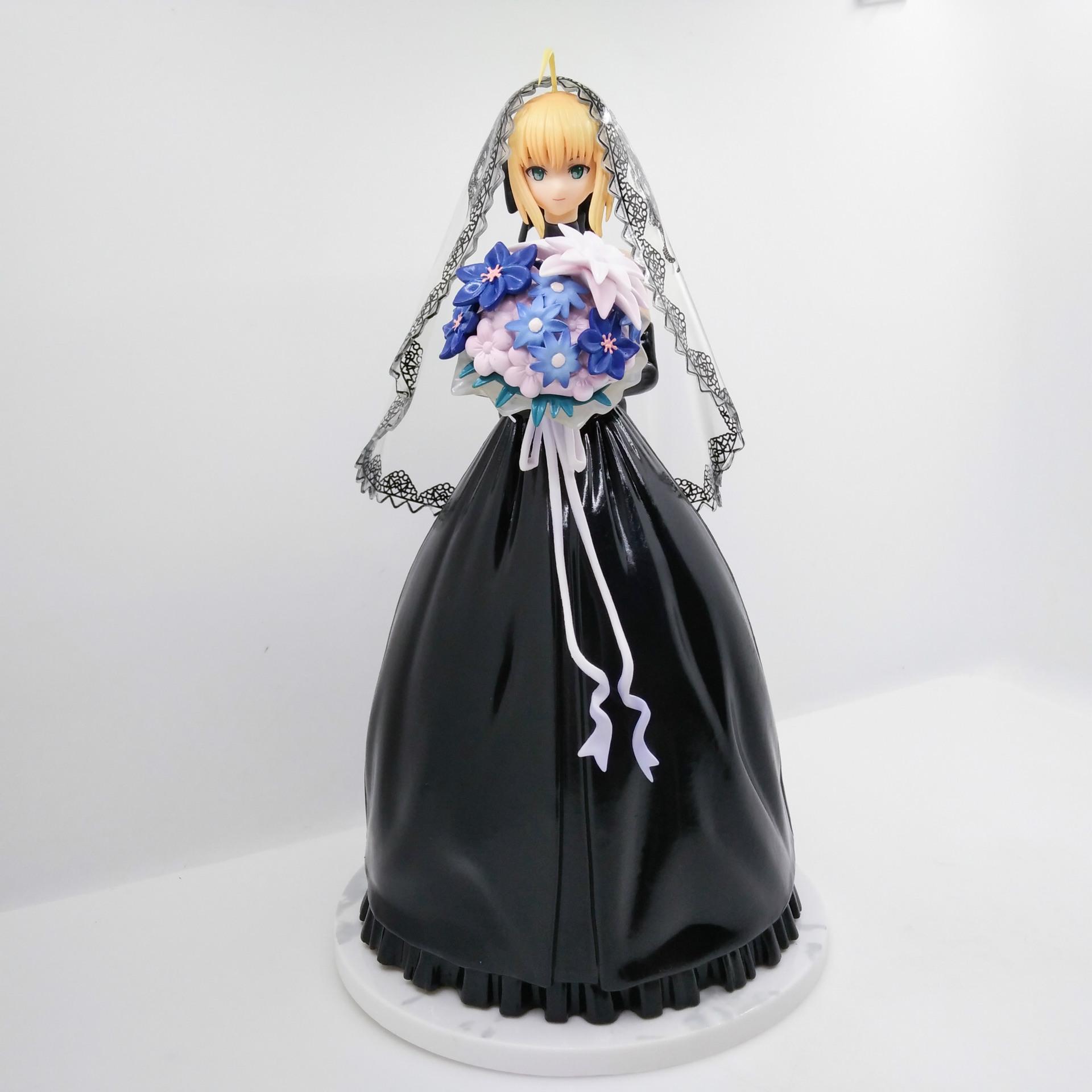PVC 26cm Figuren Fate Stay Night Saber 10th Nniversary Royal Dress ver