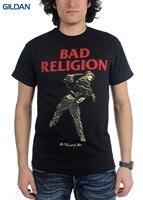 Tshirt Brand 2017 Male Short Sleeve Authentic Bad Religion Dissent Of Man T Shirt Vintage Black