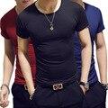 18 farben Dünne Mann T-shirt Kurzarm Streetwear Gym Kleidung T Top Plain Lauf Shirt Camiseta Masculina T-shirt homme