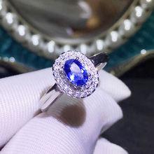 Кольцо из натурального сапфира,, натуральный синий сапфир, Стерлинговое Серебро 925 пробы, ювелирные украшения 0.6ct драгоценный камень# J18123103