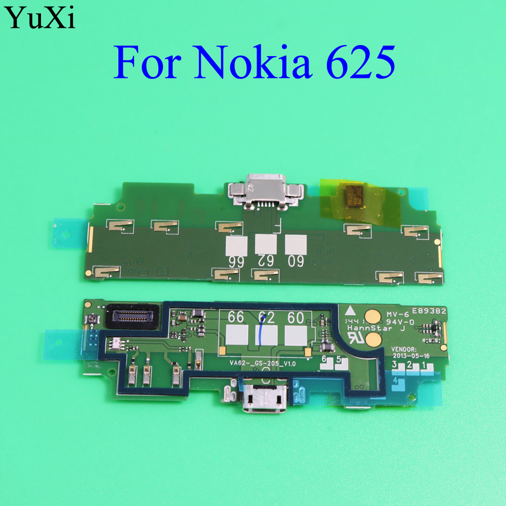 YuXi Jack <font><b>Port</b></font> Board For <font><b>Nokia</b></font> <font><b>625</b></font> Data <font><b>Usb</b></font> <font><b>Charging</b></font> <font><b>Port</b></font> Connector Flex Cable For Microsoft <font><b>Lumia</b></font> <font><b>625</b></font> <font><b>USB</b></font> Charger Dock Board image