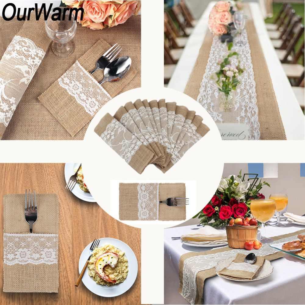 OurWarm Boho Rustic Wedding Decor Invitation Card Table Runner ...