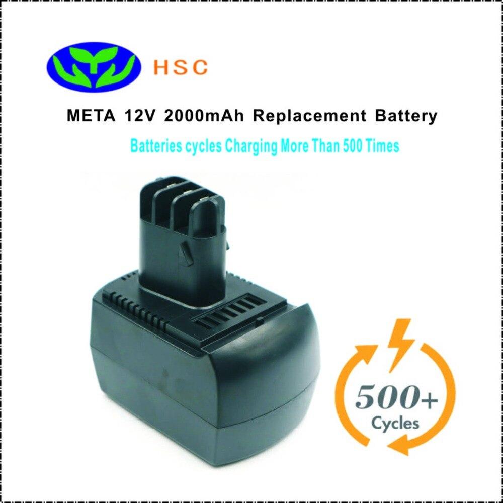 HSC MET12A 2000mAh 12V NiCAD Battery Replacement META 6 25473 6 02151 50 D 72622 Original