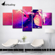 5 pieces Famous Singer Machel Jackson painting Wall Art Picture Gift Home Decoration Canvas Print