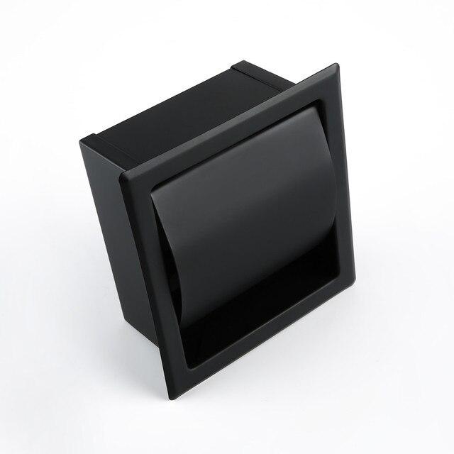 porte papier toilette encastrable noir