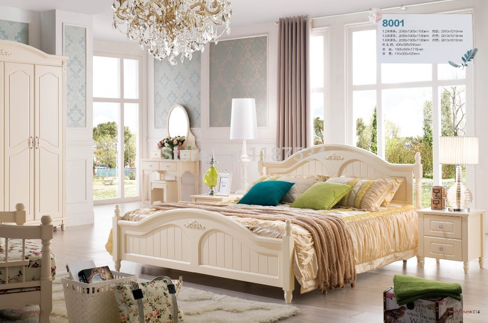 Bedroom Furniture Luxurious King Size Princess Bed Wooden