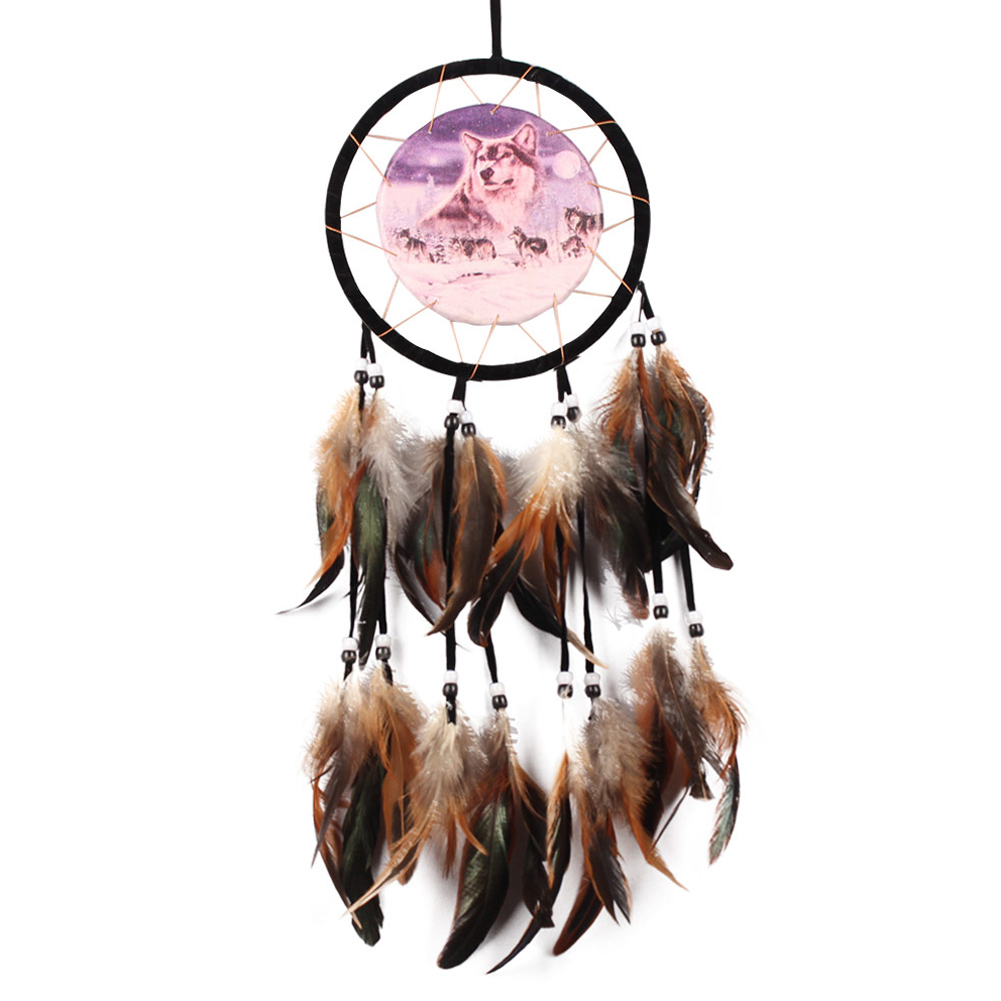 dreamcatcher wolves feathers white - photo #13