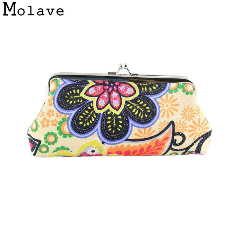 Naivety Polyester Coins Purses Printing Flowers Coin Purse Small Cute Floral Prints Hasp Wallet Bag 50S71213 drop shipping