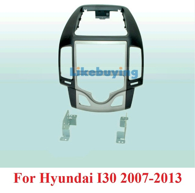 2 Din Unidad de coche Frame Dash Kit/coche/PVC para Hyundai I30 2007, 2008, 2009, 2010, 2011, 2012, 2013