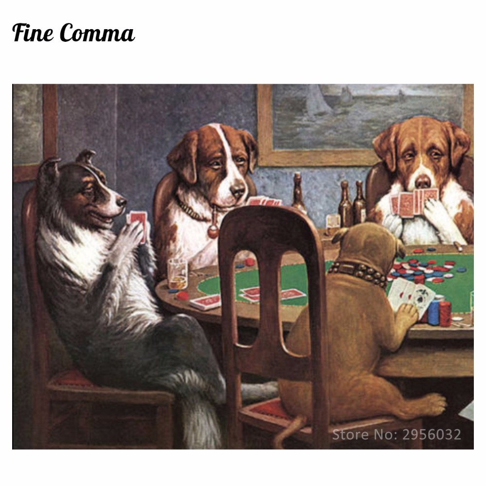 3c5144bc040 A Friend in Need Dogs Playing Poker by Cassius Marcellus Coolidge Hand  painted Oil Painting Reproduction Replica Wall Art Canvas-in Painting    Calligraphy ...