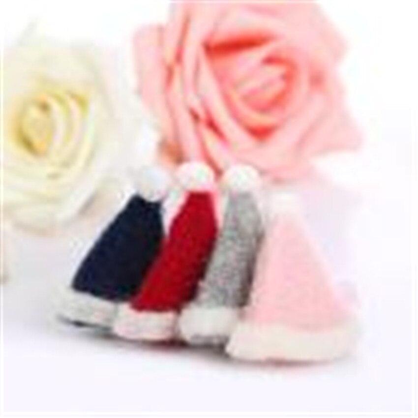 NEW 2Pcs Kids Baby Girl cute Sweet Cartoon Christmas hats Hair Clip Set charming Headdress