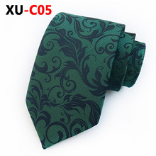 2018 New Silk Jacquard 8cm Tie Green Paisley Necktie Business Official Mans Wedding Party Accessories for Man