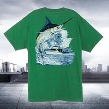 897e2e9e Men T shirt Guy Harvey Marlin Boat funny t-shirt novelty tshirt women(China