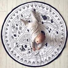 Детский игровой коврик «сделай сам» Холщовый хлопковый для ползания