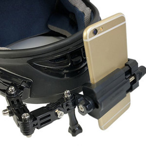 Image 4 - טלפון מחזיק אופנוע קסדת סנטר Mounts מעוקל דבק הר 360 תואר רוטרי רכיבה על הר עבור iPhone x 7 huawei xiaomi