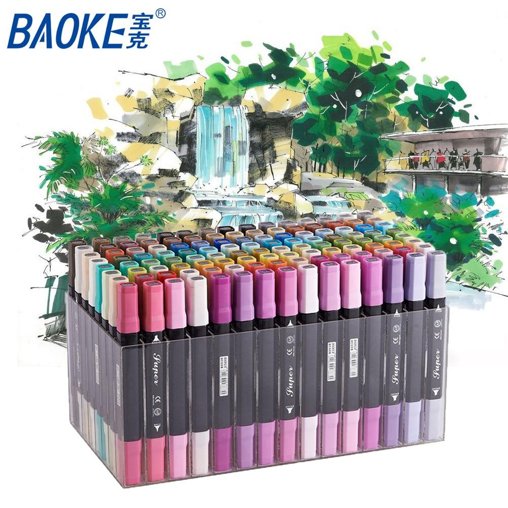 Baoke Brush Pen Drawing Sketch Art Marker Pen Artist Sketch Art Markers For Animation Manga Design Color Set baoke pop pen student art advertisement mark pen art design poster pen