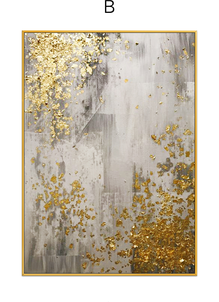 Gold abstract oil painting hand painted oil on canvas Wall Art Posters And Painting Wall Pictures For Living Room UnframedGold abstract oil painting hand painted oil on canvas Wall Art Posters And Painting Wall Pictures For Living Room Unframed