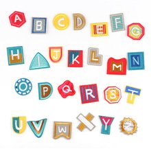 260pcs/10sets 26 English Letters Alphabet Patches Applique Iron on Clothes Shoes Bags Decoration Patch DIYnn