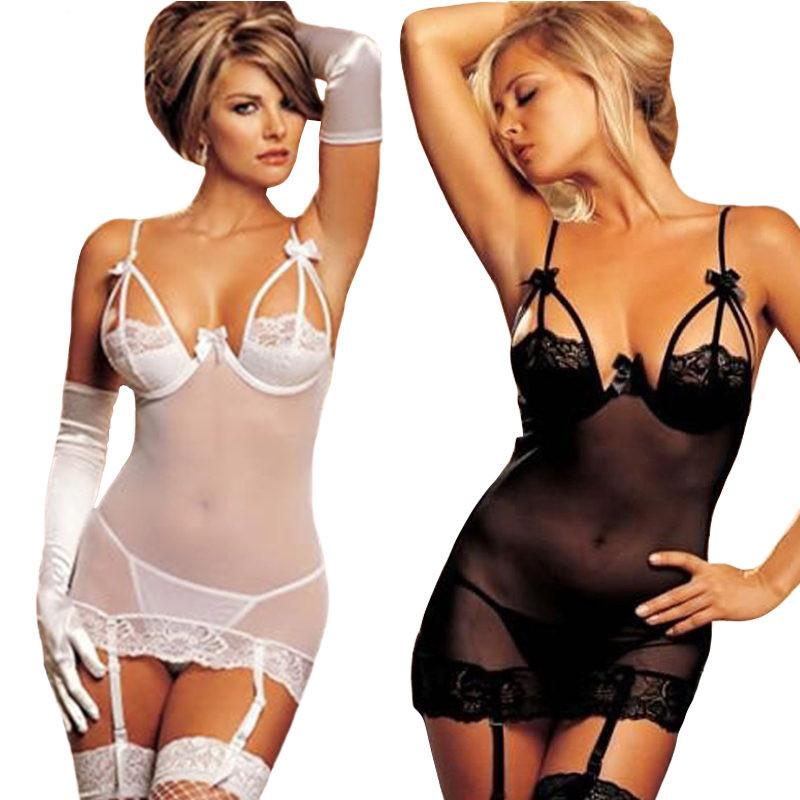 New Arrive Fishnet Women Sexy Lingerie Hot Crochet Mesh Hollow Out Baby Doll See-through Mini Chemise Babydoll Erotic Lingerie