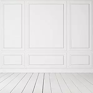 Genial 5x7ft Fancy White Wall Photography Backdrop Wall Panels Chair Rail And  Baseboard Backdrop Xt 3602