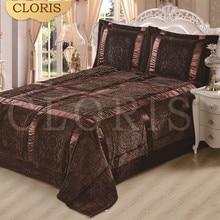 CLORISรัสเซียมอสโกผ้าคลุมเตียงผ้าห่มหนาแผ่นPlaicผ้าคลุมเตียงปก220*240เซนติเมตรขนาดขายร้อนเย็บปะติดปะต่อกันผ้าคลุมเตียงบนเตียง