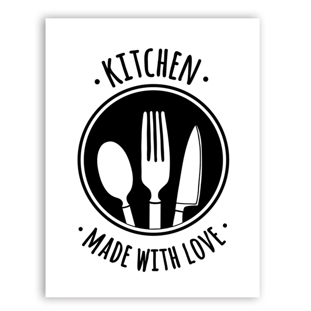 Kitchen Made Love Quote Wall Art Print Poster