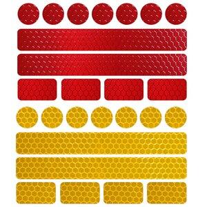 Image 2 - Светоотражающие наклейки на велосипед, клейкая лента для безопасности велосипеда, белые, красные, желтые, синие наклейки на велосипед, велосипедные аксессуары