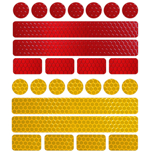 Image 2 - Reflective Bicycle Stickers Adhesive Tape For Bike Safety White Red Yellow Blue Bike Stickers Bicycle Accessories