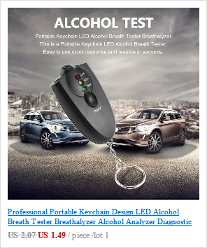 Цифровой алкотестер с ЖК-дисплеем с 5 мундштуками AT6000 Лидер продаж Прямая поставка