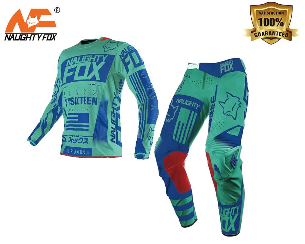 NAUGHTY FOX 360 blue Flight Pant/Jersey MX Motocross Dirt Bike ATV Gear Downhill Offroad RACING JERSEY брюки asics брюки jersey pant