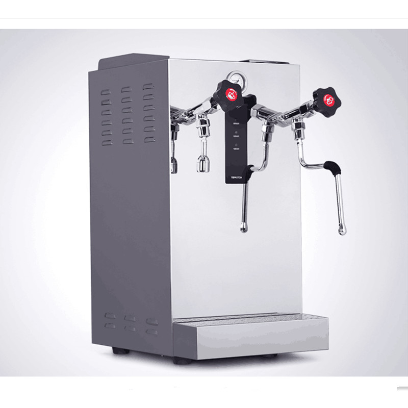 220V Full-automatic 8L Commercial Steam Boiling Water Machine Milk Bubble Machine Espresso Coffee Milk Foam Frother Machine 18 free ship steam boiling milk bubble machine commercial tea shop coffee and bubble milk maker fully automatic milk frother