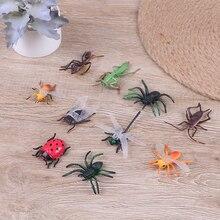 10 разных фигурок реалистичные жуки пластиковые насекомые kisd вечерние игрушки
