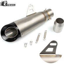 36-51mm Universal Motorcycle Exhaust Muffler Pipe Modified Motorbike Muffler Scooter Exhaust Pipe Escape For Kawasaki Z 800 1000 universal motorcycle exhaust muffler pipe modified motorbike muffler scooter exhaust pipe escape for ktm 125 duke abs 990 super
