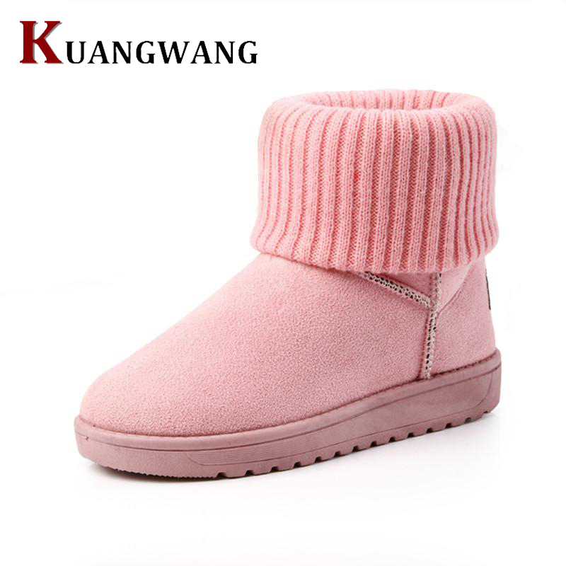Snow Boots Winter Ankle Boots Women Shoes  2017 Fashion Fur Female Winter Warm Platform Shoes For Woman Mujer Bottes