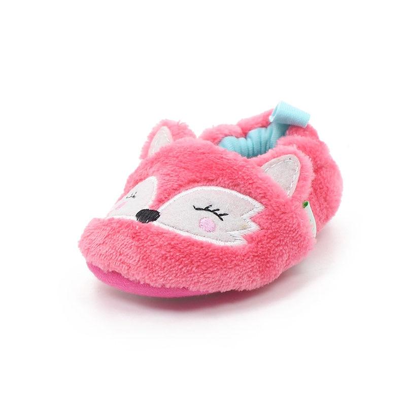 Delebao New Design Schöne Pink Fox Muster Slip-on Gummisohle Unisex Erste Wanderer Babyschuhe Hohe Qualität Nur in die USA geliefert