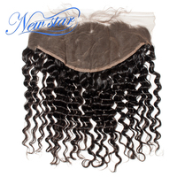 New Star Lace Frontal 13x6 Deep Wave Brazilian Virgin Human Hair Ear To Ear Closures Bleached knots Pre Plucked With Baby Hair