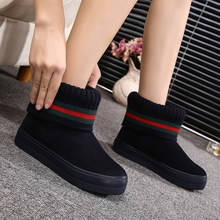 New Winter Snow Boots Woman Korean Fashion Warm Cashmere Casual Shoes Woman Boots Plush Zapatos Mujer
