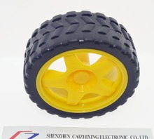Free shipping !!! 2pcs/lot supporting wheels smart car chassis,Tire, robot car wheels for arduino