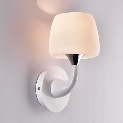 Simple Modern Wall Sconces Creative Iron Glass LED Wall Light Fixtures For Home Indoor Lighting Bedside Wall Lamp Lamparas цены