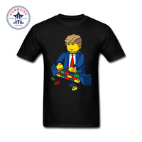 2017 Various Colors Funny Cotton Father S Day Custom Donald Trump Make Wall Funny T Shirt