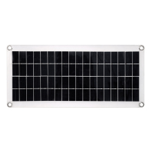 20W 18V Solar Panel Powered Cells 2-port USB 5V Portable Charger for Outdoor Camping Emergency Light Waterproof