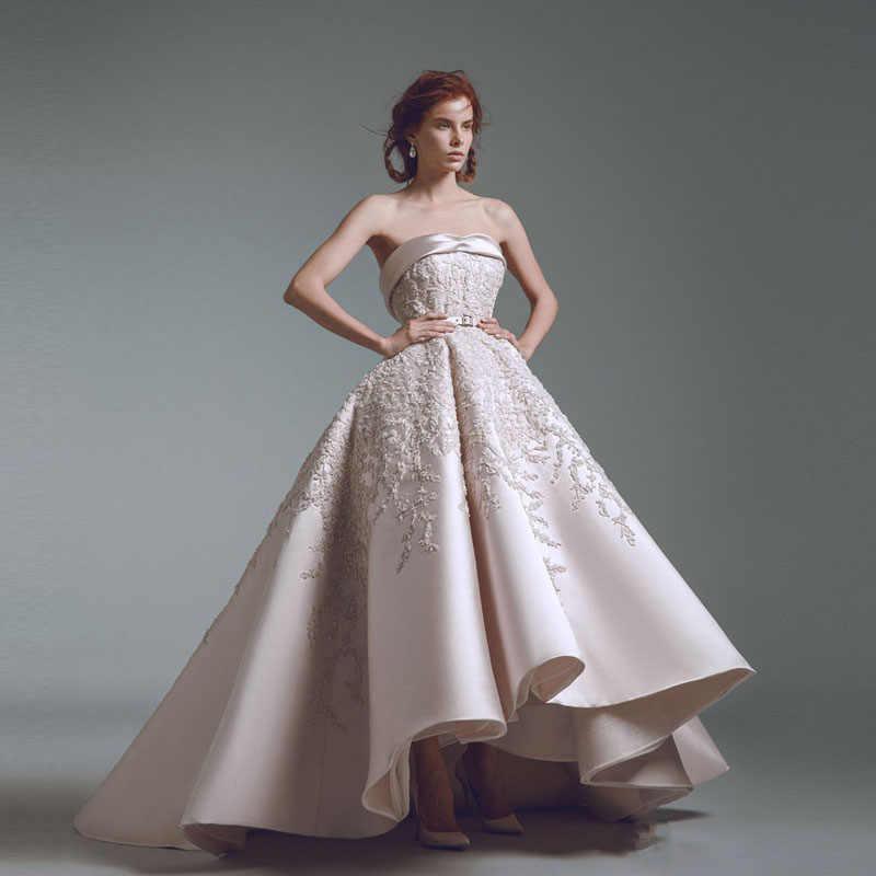 800621a74e2623d Высокое качество 2019 Весна Длинные платья Мода без бретелек бальное платье  Дубай праздничная одежда арабский Женское