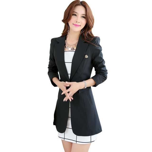 Las Blazers And Coats Plus Size Office Wear Long Sleeve Black Small Suit Bodycon Blazer Jackets