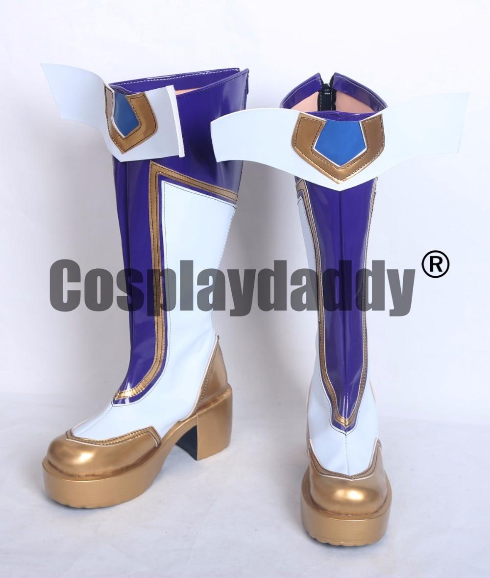 LOL the Prodigal Explorer Ezreal Star Guardian Skin Version Cosplay Boots Platform Shoes S008